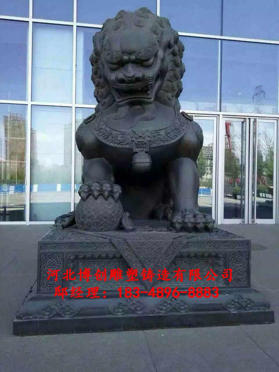 大型铜狮子